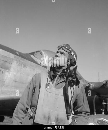 General Benjamin O. Davis, Jr., commander of the Tuskegee Airmen during World War Two and the first African American - Stock Image