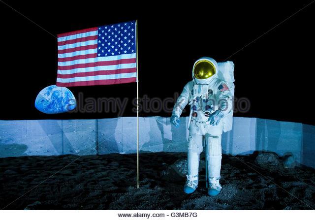 hall of lunar diorama pavilion planetary space,volandia,park and museum of flight,somma lombardo,italy - Stock Image