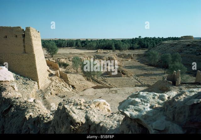 The Oasis Al Diriya near Riyadh Saudi Arabia Middle East - Stock Image