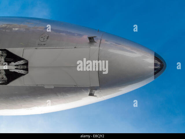 Douglas DC-3 nose from below - Stock Image