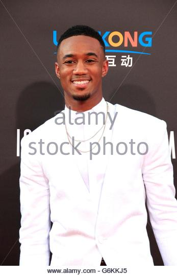 epa05380910 US actor/cast member Jessie Usher arrives at the premiere of  Independence Day: Resurgence held at the - Stock Image
