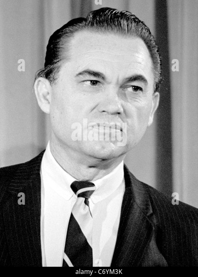 GEORGE WALLACE (1919-1998) Former Governor of Alabama declares his presidential candidacy in February 1968 - Stock Image