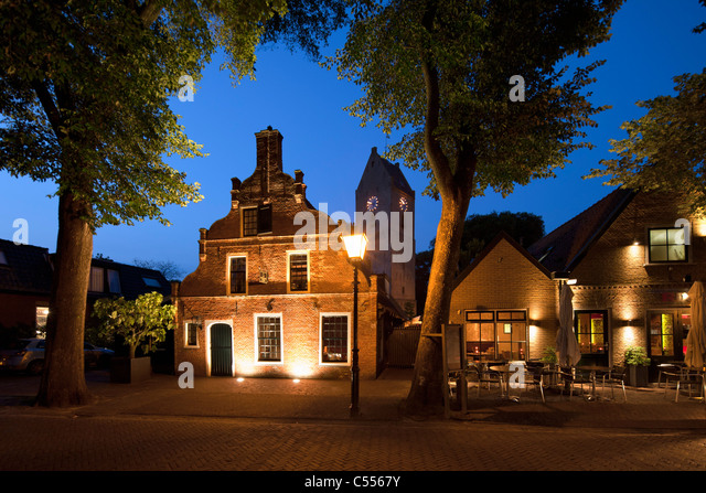 The Netherlands, Buren, Ameland Island, belonging to Wadden Sea Islands. House of former captain in whaling industry. - Stock Image