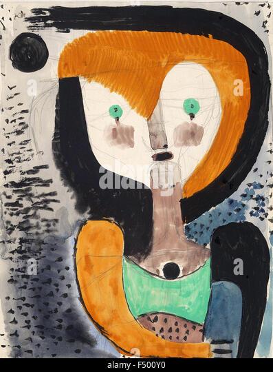 Paul Klee - Aquarelleskizze zu 'MA' (Watercolor Sketch for 'M. A.') - Stock-Bilder