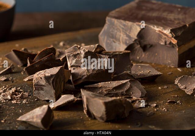 Organic Semi Sweet Dark Chocolate Chunks for Baking - Stock Image