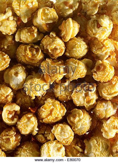 Corn or natural popcorn kernel - Stock Image