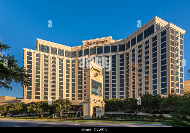 The 1,room Beau Rivage Resort & Casino is an upper-middle-range hotel along the coast in Biloxi. An MGM Resorts International property, the Beau Rivage has all that you'd expect from a casino hotel -- multiple restaurants, meeting and event spaces, and an arcade to keep the kids busy/5.