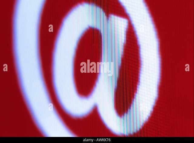@, at sign - Stock Image