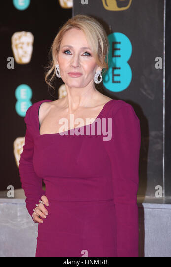 LONDON - FEB 12, 2017: J.K. Rowling attends The EE British Academy Film Awards (BAFTA) at the Royal Albert Hall - Stock Image
