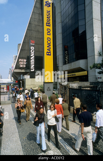 Brazil Sâo Paulo Avenida Paulista - Stock Image