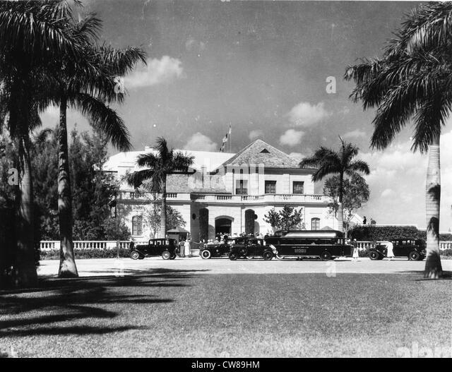 Entrance, Hialeah Racetrack, Florida, 1940 - Stock Image