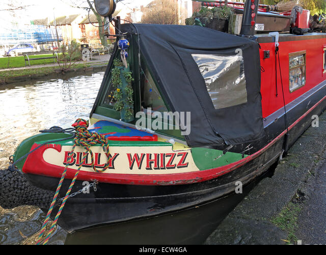Billy Whizz,canal boat, Chester City canalside, Cheshire,England,UK - Stock Image