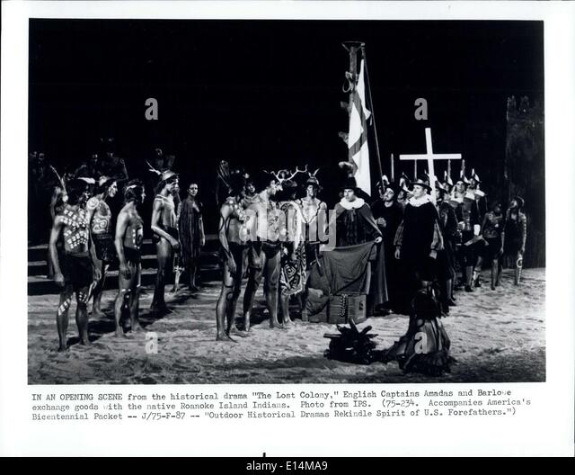 Apr. 05, 2012 - In An Opening Scene from the historical drama '' The Lost Colony,'' English Captains - Stock Image