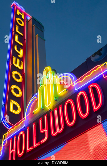 California CA LA Los Angeles Hollywood Boulevard movie industry Hollywood Walk of Fame Guinness World Record Museum - Stock Image