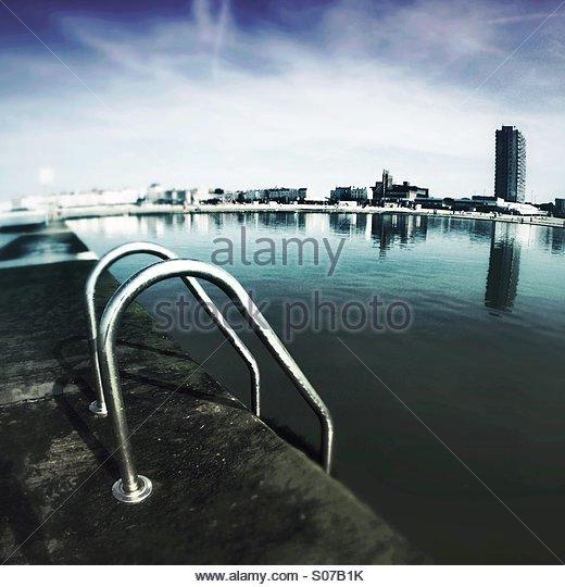 Margate Boating Pool UK - Stock Image