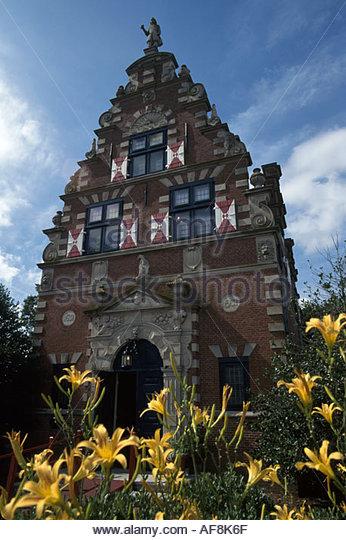 Delaware Lewes Zwaanendael Museum built 1931 Hoorn Holland Town Hall - Stock Image