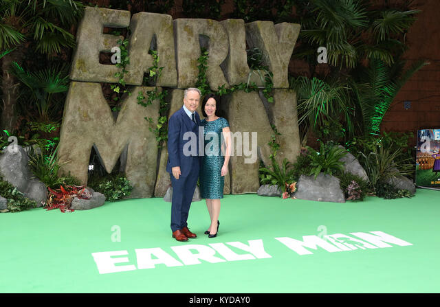 London, UK. 14th January, 2018. Nick Park, Mags Connolly, Early Man - World premiere, BFI IMAX, London UK, 14 January - Stock Image