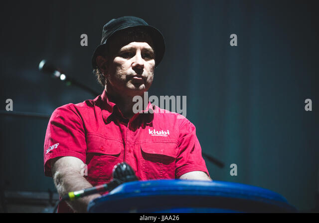 Collegno, Italy. 18th July, 2017. Einstürzende Neubauten performing live at the Flowers Festival 2017 in Collegno - Stock Image
