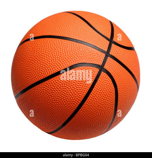 plastic orange basketball - Stock Image