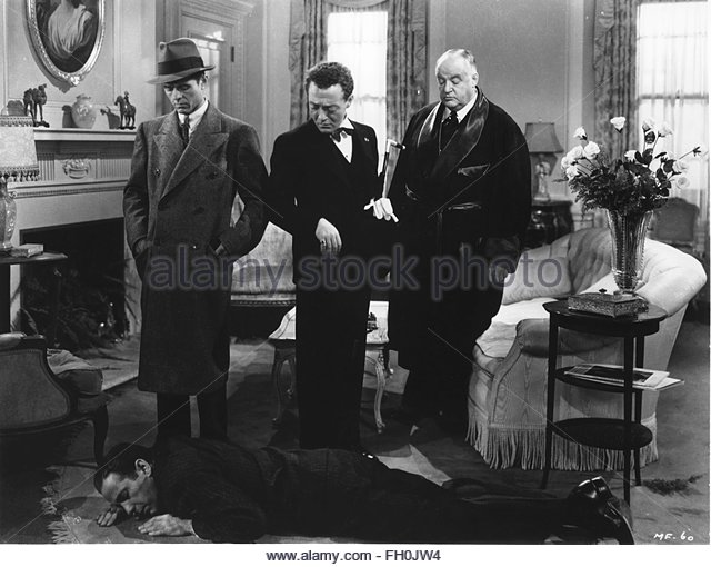 THE MALTESE FALCON (1941) - L-R: Elisha Cook, Jr., Peter Lorre, Sidney Greenstreet, Humphrey Bogart.   Courtesy - Stock Image