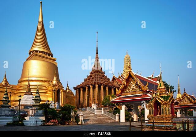 Wat Phra Kaew inside the Royal Palace, Bangkok, Thailand, Southeast Asia, Asia - Stock Image