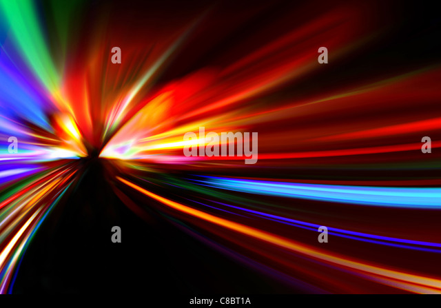 abstract night acceleration speed motion - Stock Image