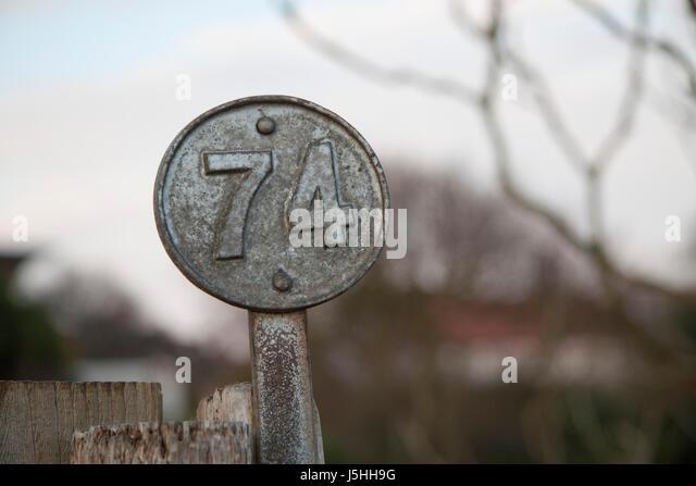 Allotment number marker - Stock Image