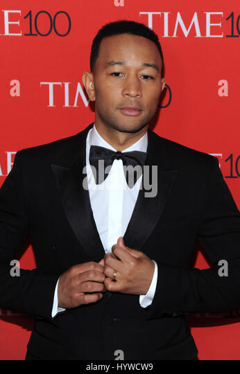 New York, NY, USA. 25th Apr, 2017. John Legend at the 2017 Time 100 Gala Celebrating the 100 most influential people - Stock Image
