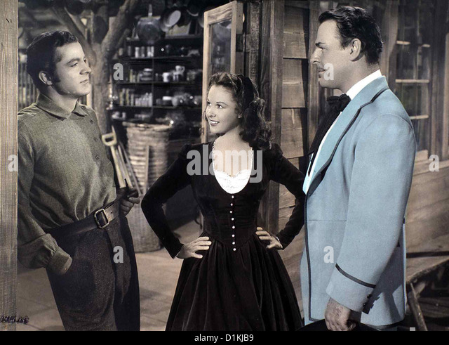 Feuer Am Horizont  Canyon Passage  Dana Andrews, Susan Hayward, Brian Donlevy Bankier George Camrose (B. Donlevy, - Stock Image