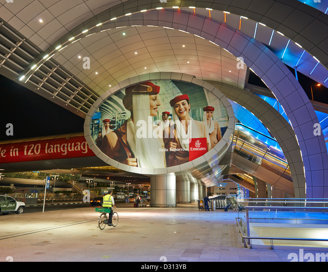 The arrival and departure terminal of the Dubai International Airport - Stock Image