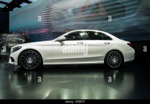 Detroit, Michigan, USA. 13th January 2014. Mercedes-Benz C-Class Sedan at the 2014 Detroit Auto Show Credit:  Joseph - Stock Image
