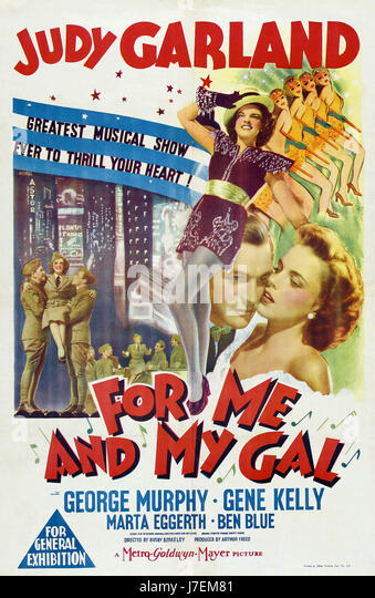 FOR ME AND MY GAL Poster for the 1942 MGM film musical with Judy Garland and Gene Kelly - Stock-Bilder
