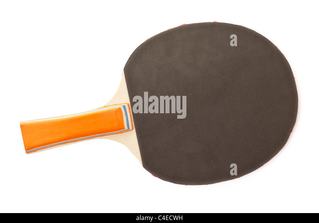 table tennis racket isolated on white background - Stock Image