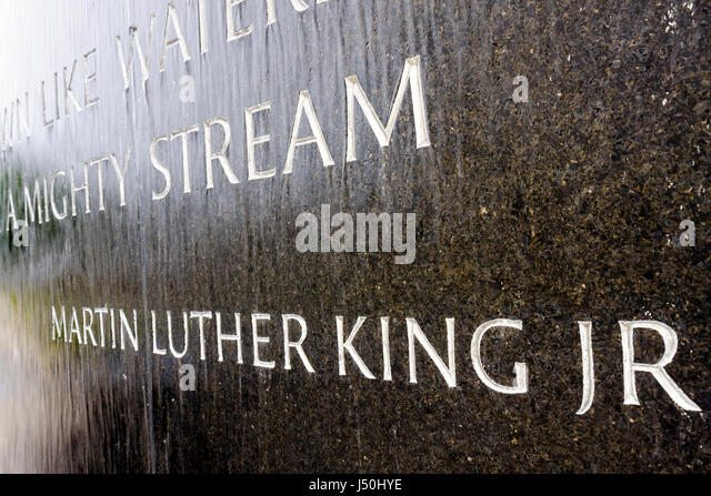Montgomery Alabama Civil Rights Memorial Center Dr. Martin Luther King Jr. discrimination racism justice freedom - Stock Image
