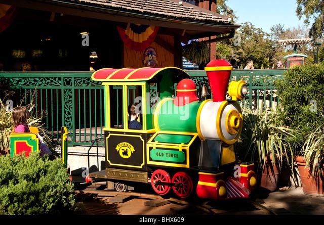 Kiddie train ride Downtown Disney Orlando FL Florida - Stock Image