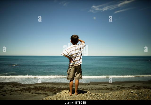 At the coast, Wellington, New Zealand - Stock Image
