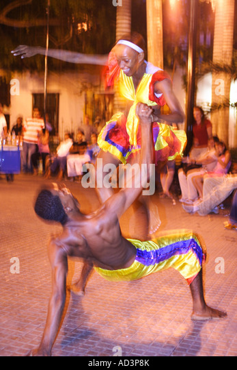 traditional dancers, Cartagena de Indias, Bolivar, Colombia, South America, caribbean - Stock Image