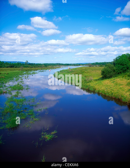 Cruising Shannon Erne Waterway, Near Keshcarrigan, Ballinamore-Ballyconnell Canal, Ireland - Stock Image