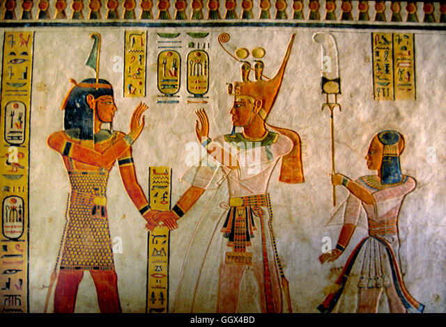 queen nefertaris tomb Carved in stone, nefertiti (at right), and her husband, akhenaten, play with three of their six daughters as blessings from the god aten, the radiant sun disk, shine down upon them.