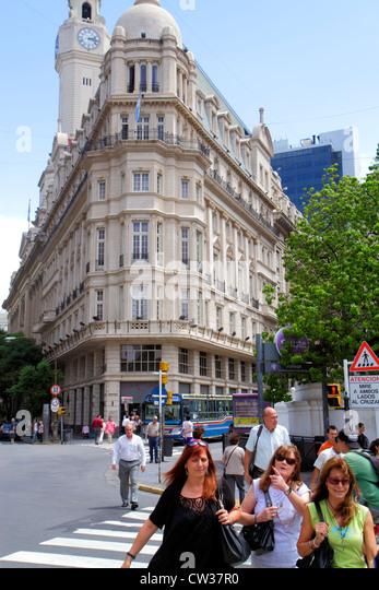 Buenos Aires Argentina Plaza de Mayo landmark historic main square political hub City Legislature Palacio Ayerza - Stock Image