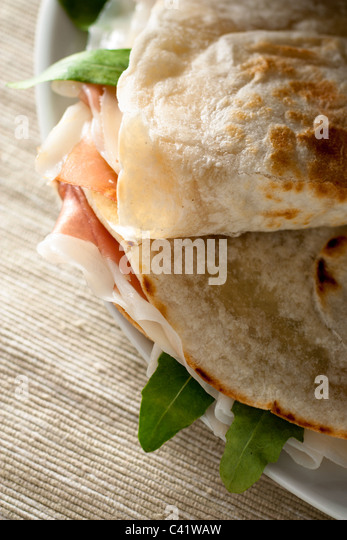 Italian Food, Piadina Romagnola - Stock Image