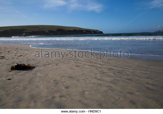Sandscape Landscape of St. Ninian's Isle - Stock Image