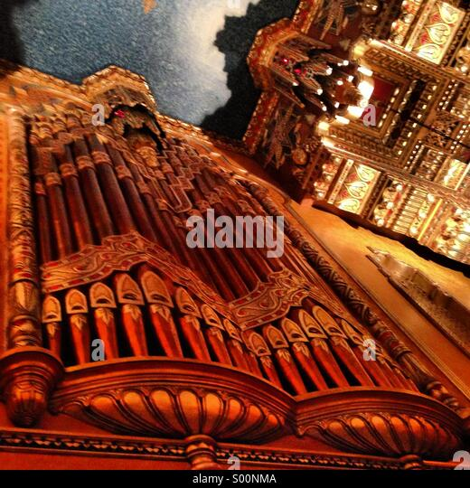Organ pipes in the lobby at the Fox Theatre, Detroit, Michigan. 2013 - Stock Image