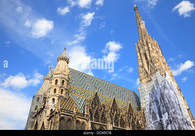 St. Stephan cathedral in Vienna - Stock Image