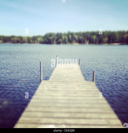 Summer dock - Stock Image
