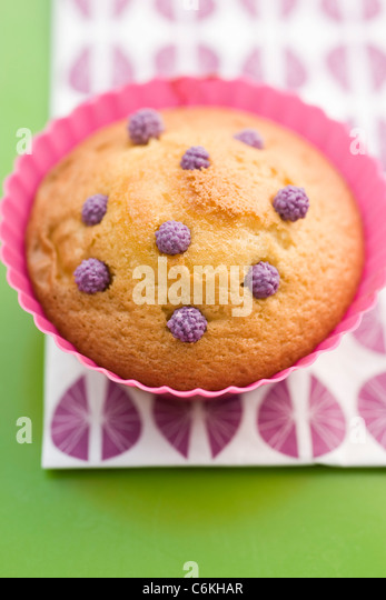 Bizcocho decorated with candy sprinkles - Stock-Bilder