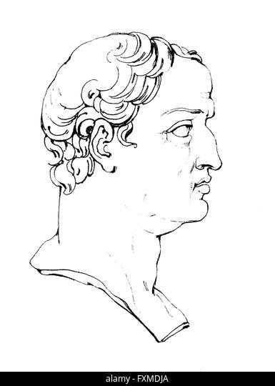 Gaius Cilnius Maecenas, 68 BC ? 8 BC, Roman diplomat, counsellor to the Roman emperor Augustus, Gaius Cilnius Maecenas, - Stock-Bilder