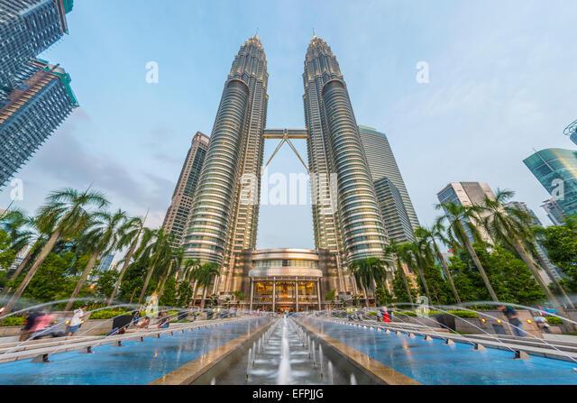 Petronas Towers, Kuala Lumpur, Malaysia, Southeast Asia, Asia - Stock Image