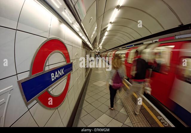 Bank  Metro Station, Tube, London , United Kingdom - Stock Image