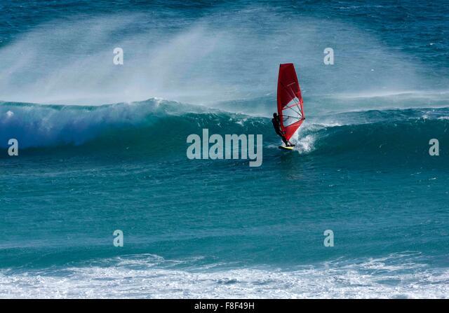 Wind Surfing, Esperance Western Australia - Stock Image